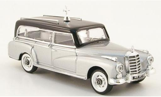 Mercedes 300 1/43 Rio D grise/noire 1960 Corbillard miniature