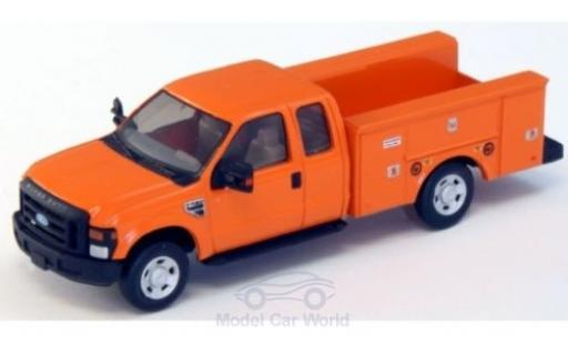 Ford F-350 1/87 River Point XLT Super Cab Utility Truck orange 2008 miniature