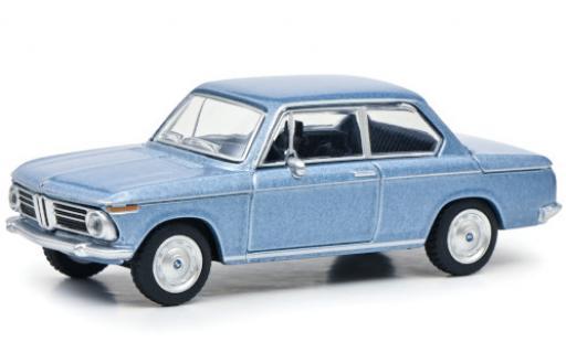Bmw 2002 1/64 Schuco metallise bleue Paperbox Edition miniature