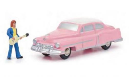 Cadillac Eldorado 1/90 Schuco pink/white The King avec figurine diecast model cars