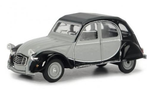 Citroen 2CV 1/64 Schuco 6 Club grey/black diecast model cars