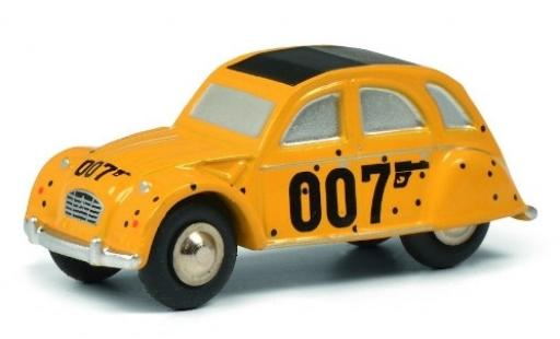 Citroen 2CV 1/64 Schuco yellow James Bond 007 diecast model cars
