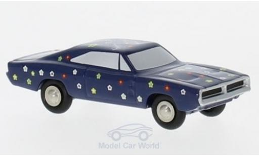 Dodge Charger 1/90 Schuco dunkelbleue/Dekor Happy Birthday 2019 miniature