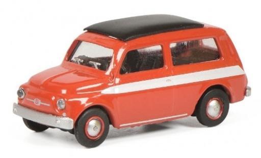 Fiat 500 1/87 Schuco Giardiniera rojo/blanco coche miniatura