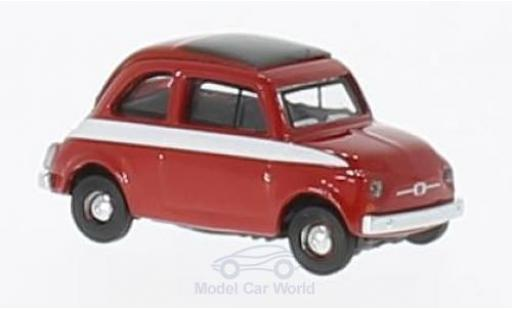 Fiat 500 F 1/87 Schuco red/white diecast model cars