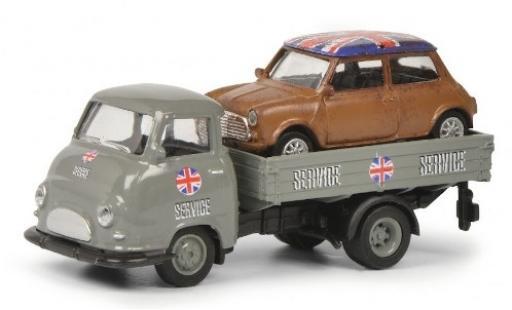 Hanomag Kurier 1/87 Schuco Pritsche Mini-Service avec charge modellino in miniatura