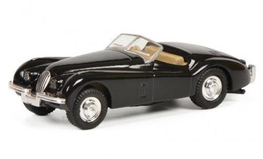 Jaguar XK 1/87 Schuco 120 black RHD diecast