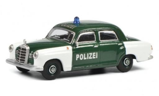 Mercedes 180 1/64 Schuco D Ponton white/green Polizei (D)  diecast model cars