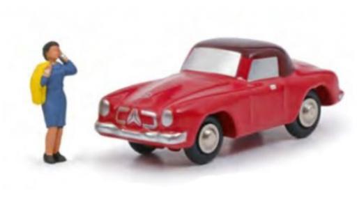Mercedes 190 1/90 Schuco SL red/black Rosemarie N. avec figurine diecast model cars