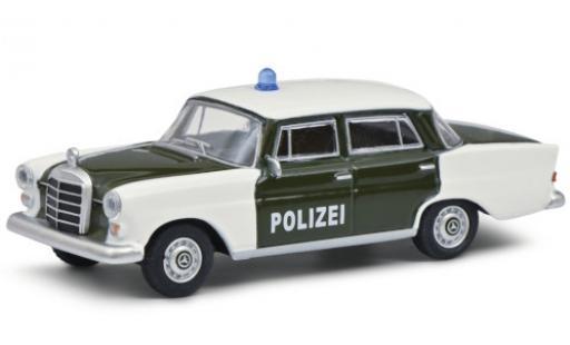 Mercedes 200 1/64 Schuco (W110) verte/blanche Polizei 1961 miniature