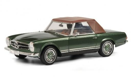 Mercedes 280 1/18 Schuco SL (W113) metallise green mit abnehmbarem Softtop diecast model cars