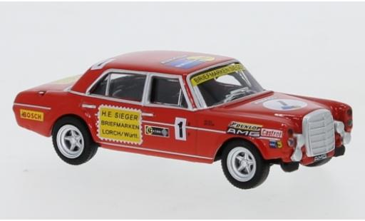 Mercedes 300 1/87 Schuco SEL 6.8 AMG No.1 Briefmarken Sieger diecast model cars