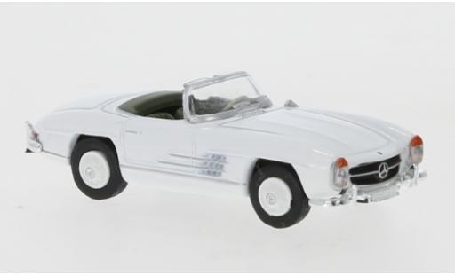 Mercedes 300 1/87 Schuco SL Roadster white diecast model cars
