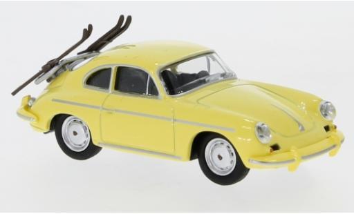Porsche 356 1/64 Schuco Carrera 2 Skiurlaub modellino in miniatura