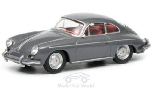 Porsche 356 1/64 Schuco Coupe grey diecast model cars