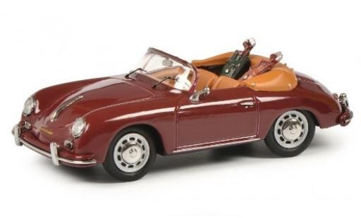 Porsche 356 1/43 Schuco A Cabriolet rouge avec charge Golftaschen miniature