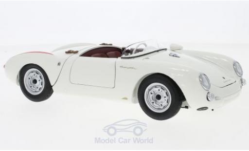 Porsche 550 1/18 Schuco S Spyder white Edition 70 Jahre diecast model cars