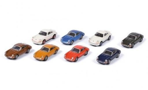 Porsche 911 1/87 Schuco 8er-Set: diecast model cars