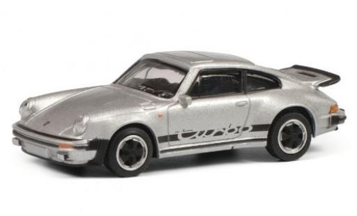 Porsche 911 1/64 Schuco 3.0 Turbo grigio/Dekor modellino in miniatura