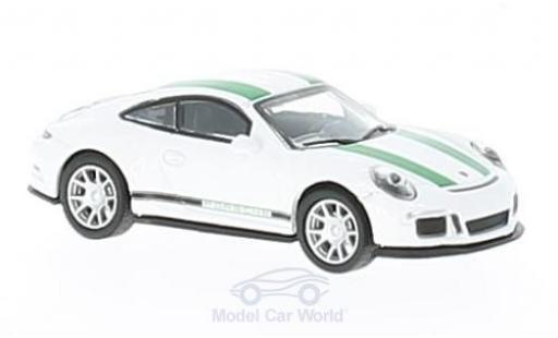 Porsche 991 R 1/87 Schuco 911  blanche/verte miniature