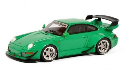 Porsche 993 RWB 1/43 Schuco 911  RAUH-Welt verde modellino in miniatura