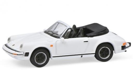 Porsche 911 1/87 Schuco Carrera 3.2 Cabriolet blanco coche miniatura