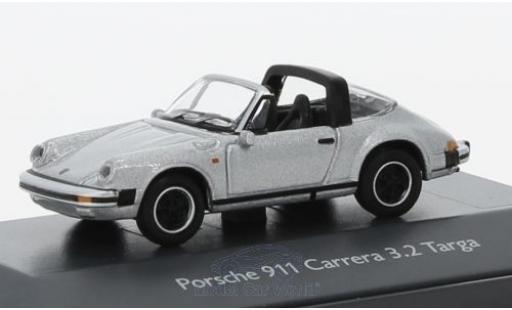 Porsche 911 Targa 1/87 Schuco Carrera 3.2 Targa grise miniature