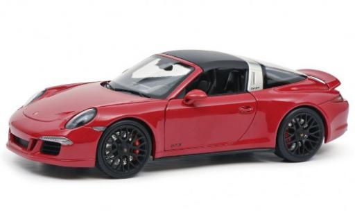 Porsche 991 Targa 1/18 Schuco 911 Carrera 4 GTS (.1) rouge 2014 toit détachable miniature