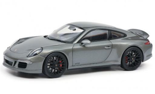 Porsche 991 GTS 1/18 Schuco 911 Carrera (.1) metallise grey 2014 diecast model cars