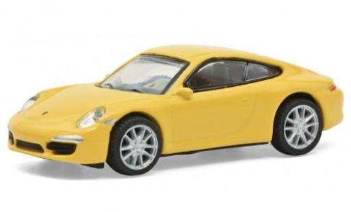 Porsche 991 S 1/87 Schuco 911 Carrera  jaune miniature