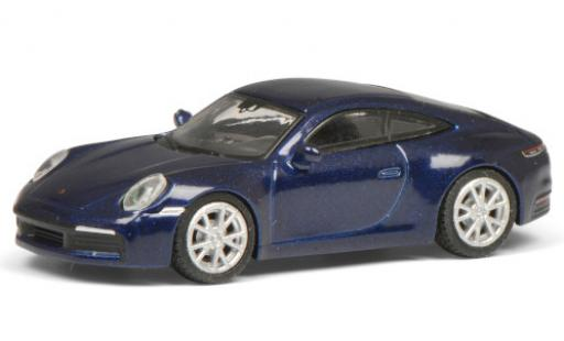 Porsche 992 S 1/87 Schuco 911 Carrera  metallise blue diecast model cars