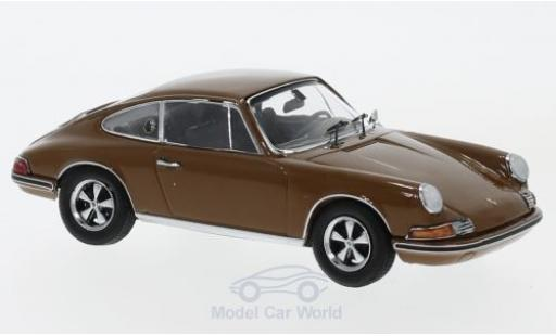 Porsche 911 SC 1/43 Schuco S brown diecast model cars