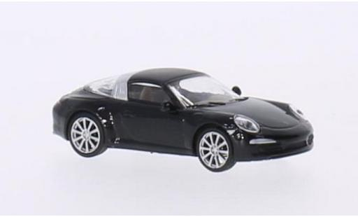 Porsche 991 Targa 1/87 Schuco 911 4S  metallise negro coche miniatura