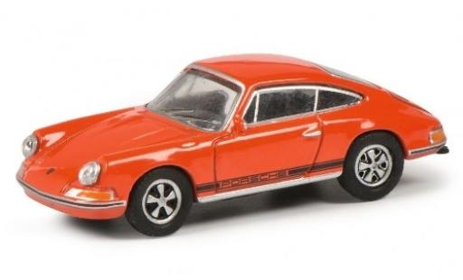 Porsche 911 1/87 Schuco S orange/noire miniature