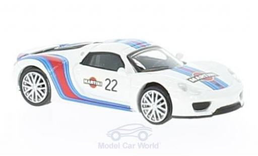 Porsche 918 1/87 Schuco Spyder No.22 Martini diecast model cars