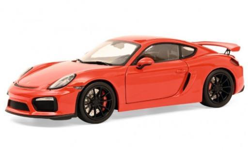 Porsche Cayman GT4 1/18 Schuco (981) red 2015 diecast model cars