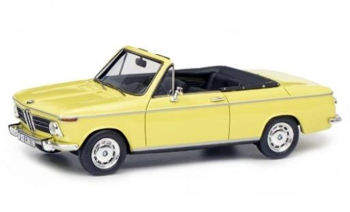 Bmw 2002 1/43 Schuco ProR Cabriolet 2/2 Baur yellow diecast model cars