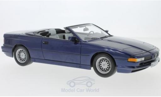 Bmw 850 1/18 Schuco ProR i Cabriolet metallise blu modellino in miniatura