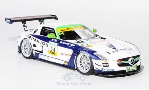 Mercedes SLS 1/43 Schuco ProR AMG GT3 No.34 Heico Motorsport Primajob ADAC GT Masters 2011 L.D.Arnold/A.Zuber miniature
