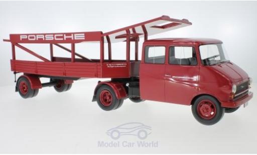 Opel Blitz 1/18 Schuco ProR Renntransporter Porsche miniature