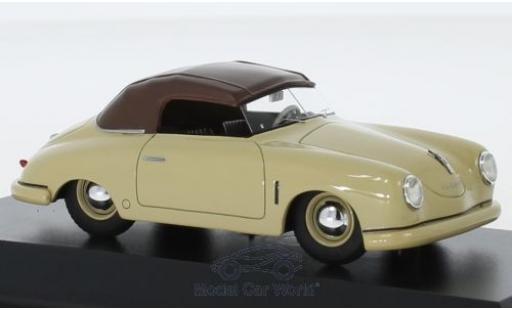 Porsche 356 1/43 Schuco ProR Gmünd Cabriolet beige/marron miniature
