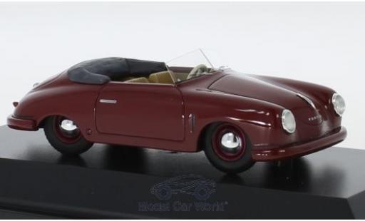 Porsche 356 1/43 Schuco ProR Gmünd Cabriolet rouge 1948 miniature