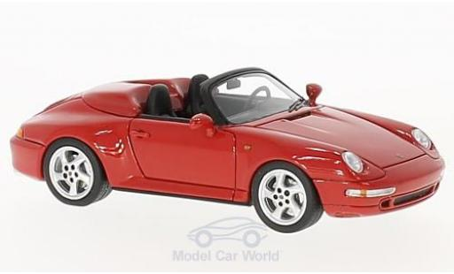 Porsche 993 Speedster 1/43 Schuco ProR (993) Speedster rouge miniature