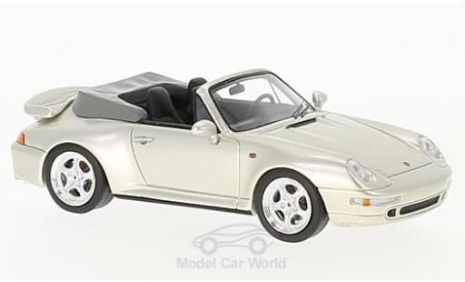 Porsche 993 Turbo 1/43 Schuco ProR (993) Turbo Cabriolet metallic-beige miniature