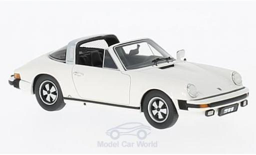 Porsche 930 Targa 1/43 Schuco ProR Targa blanche 1975 miniature