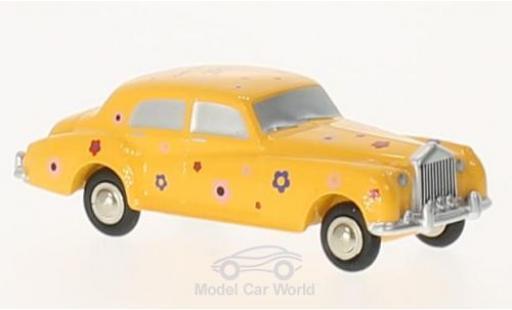 Rolls Royce Silver Cloud 1/90 Schuco jaune/Dekor Happy Birthday 2017 miniature