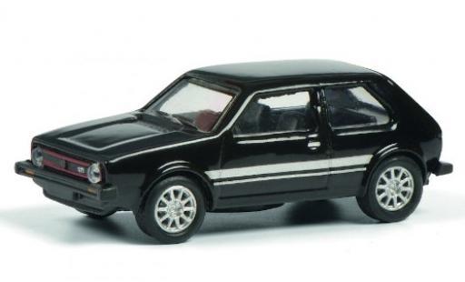 Volkswagen Golf 1/87 Schuco I GTI negro/Dekor coche miniatura