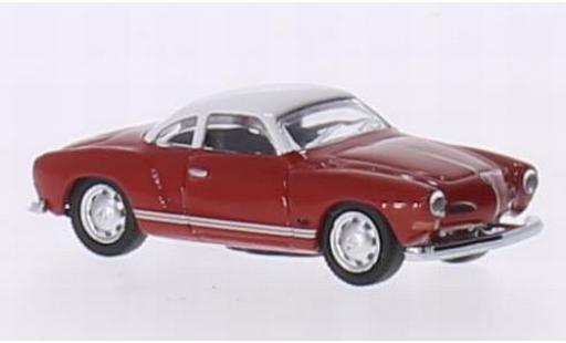 Volkswagen Karmann 1/87 Schuco Ghia Coupe red/white diecast