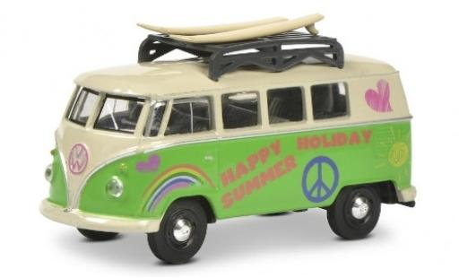 Volkswagen T1 1/64 Schuco Bus green/beige Surfer avec Rack de toit et charge diecast model cars