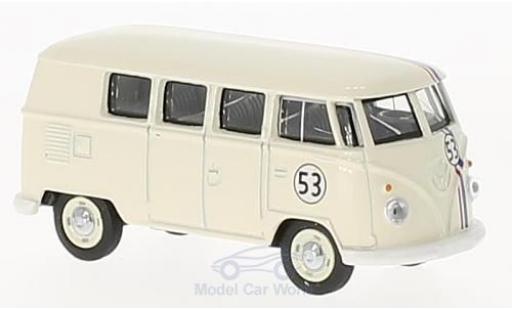Volkswagen T1 B 1/64 Schuco Bus bianco Nr.53 miniatura